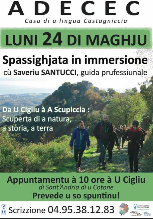 Sant'Andria di U Cotone : Spassighjata in immersione u luni 24 di maghju