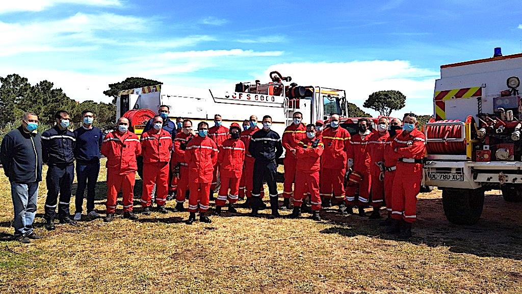 Lumiu : exercice feu de forêt pour les RCSC Balagne