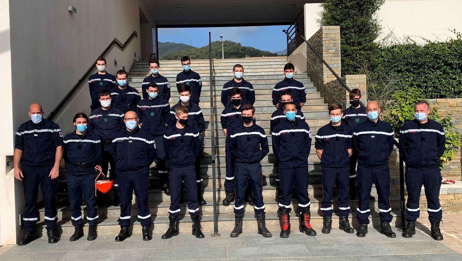 Les jeunes sapeurs-pompiers de Lucciana à la manœuvre
