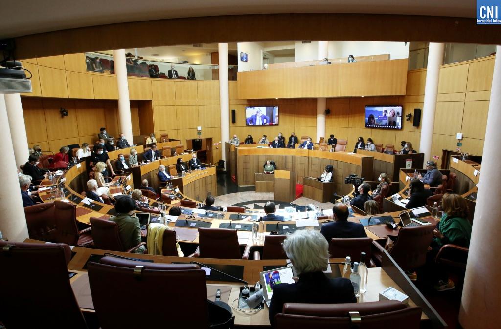 La dernière session de l'Assemblée de Corse. Photo Michel Luccioni.