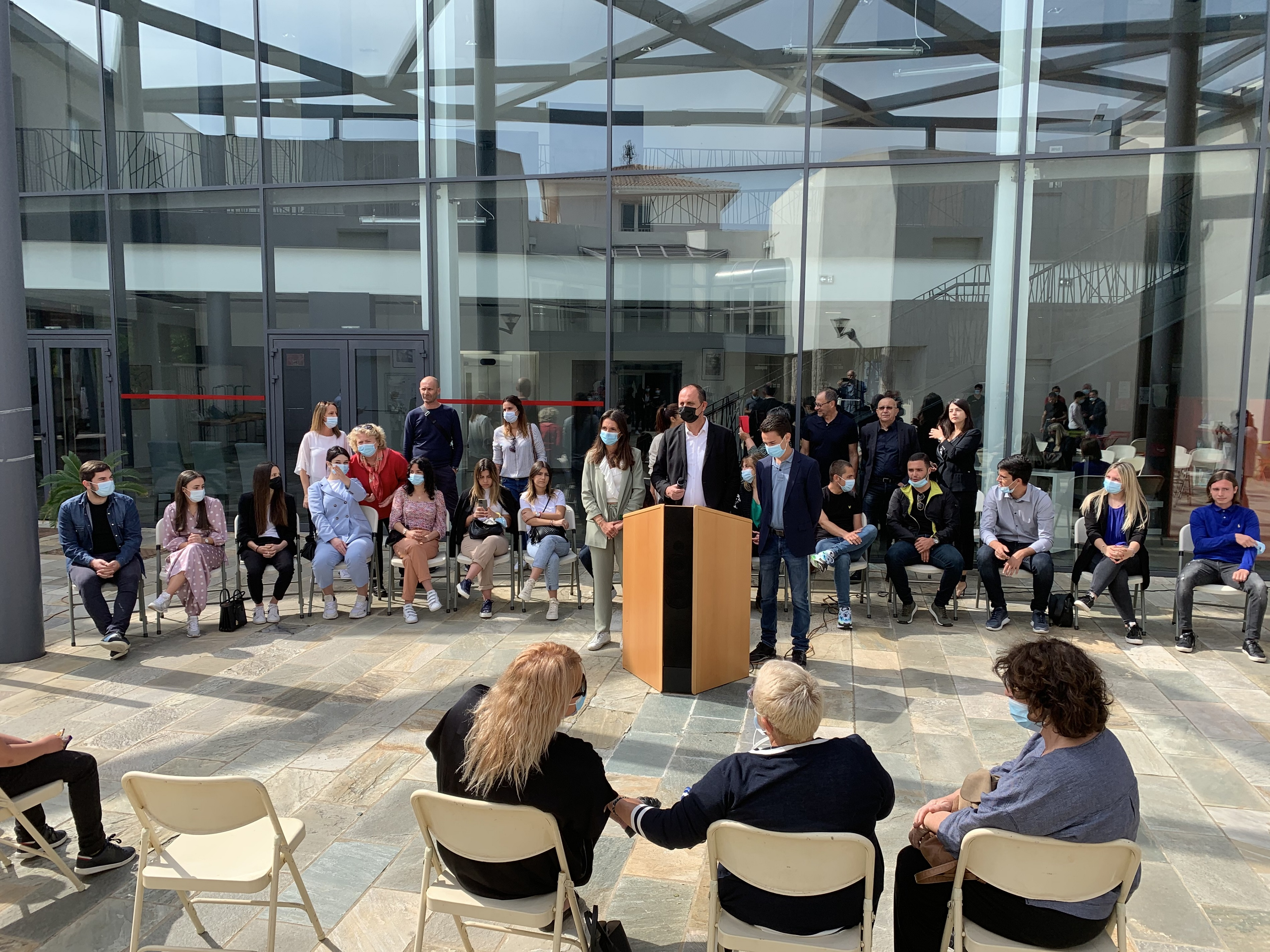 J.Ch. Giabiconi, maire de Biguglia,  a installé samedi 22 mai 2021 le 1er Cunsigliu Municipale di a Ghjuventù.