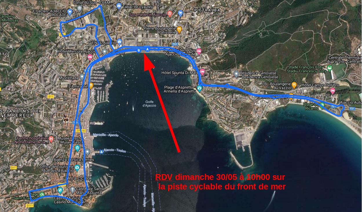 Ajaccio : une sortie à vélo pour interpeller les candidats aux élections territoriales