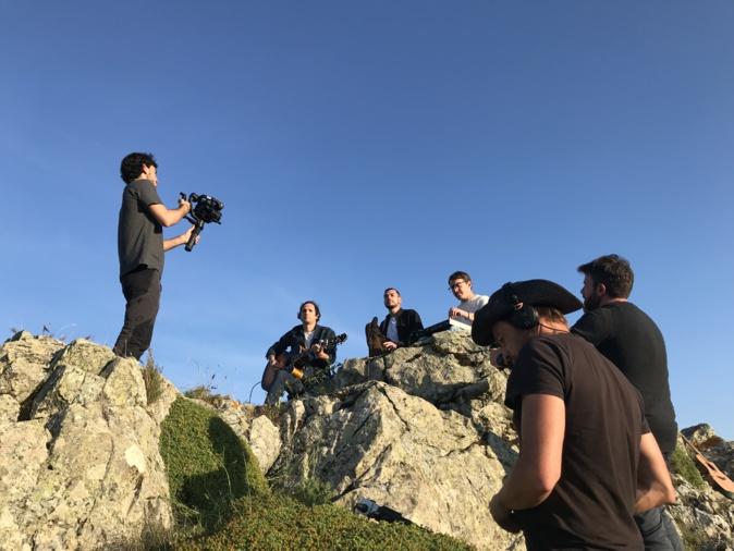 Tournage du teaser du groupe Cencio sur les hauteurs de Lento