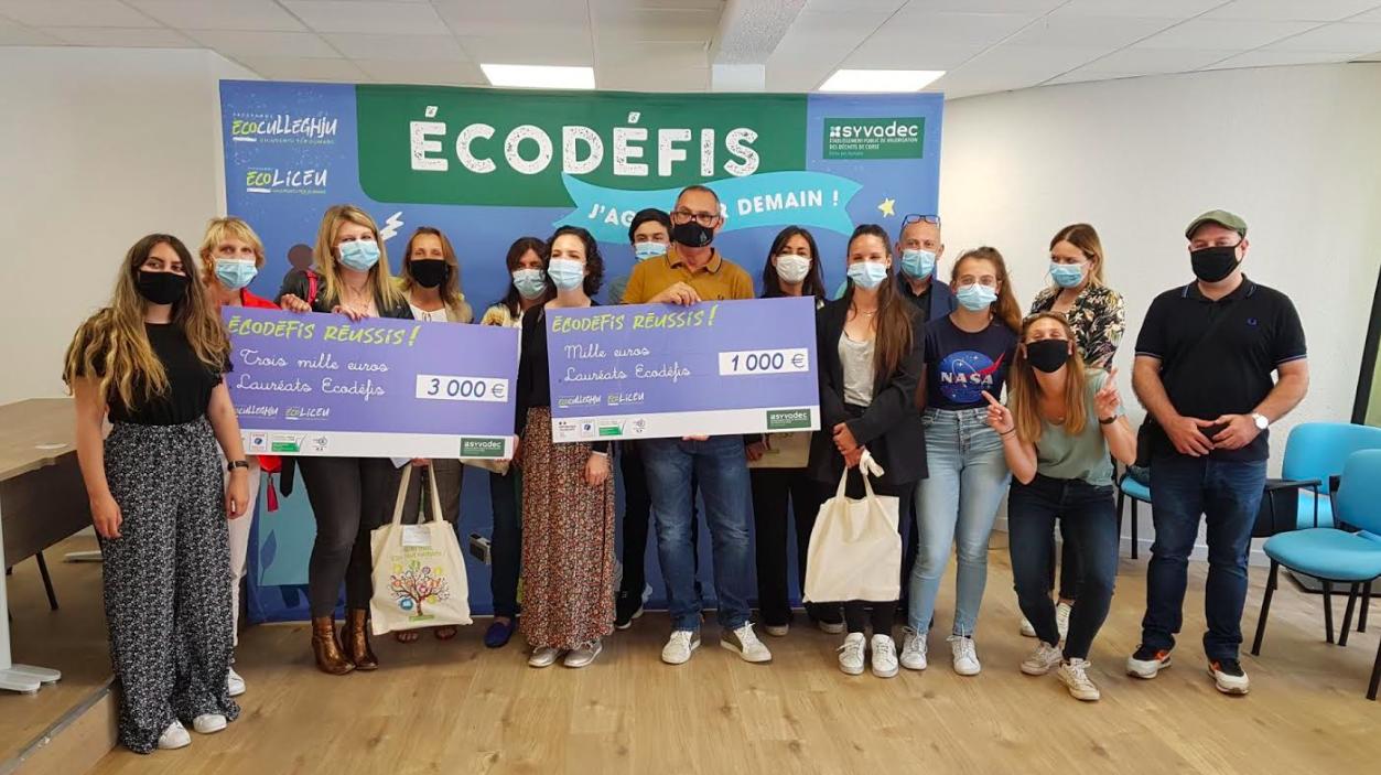 """Bastia : Les élèves du collège Simon Vinciguerra remportent les """"Ecodéfis"""""""