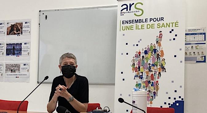La directrice de l'ARS Marie-Hélène Lecenne a tenu une conférence de presse ce mardi 1er juin. Photo : Julia Sereni