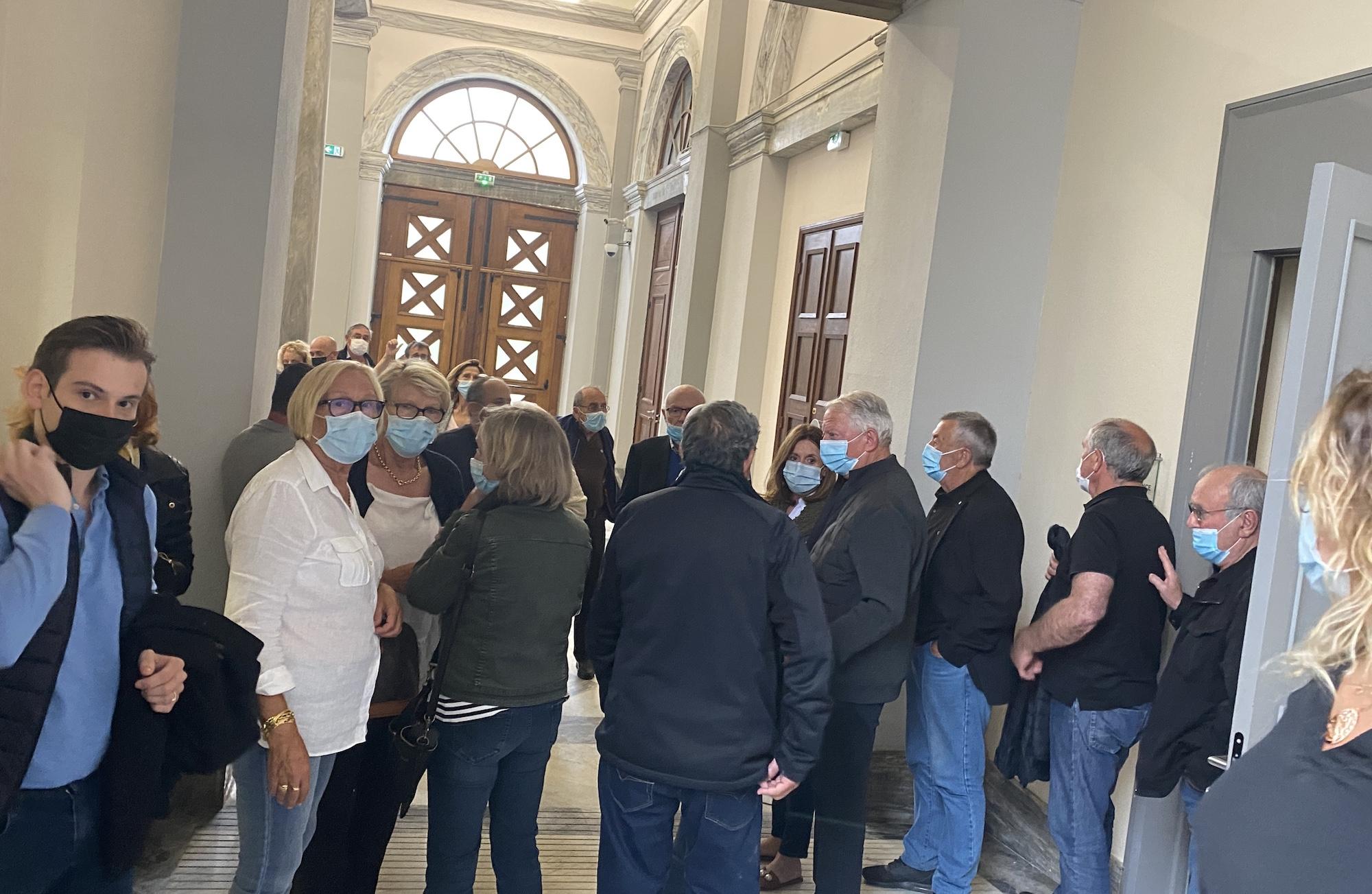 Les soutiens à l'ancien sénateurs étaient nombreux au palais de justice de Bastia.