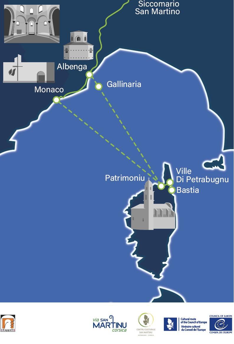 A Via San Martinu : Sur les pas de saint Martin, l'Itinéraire culturel européen va relier la Corse à Albenga