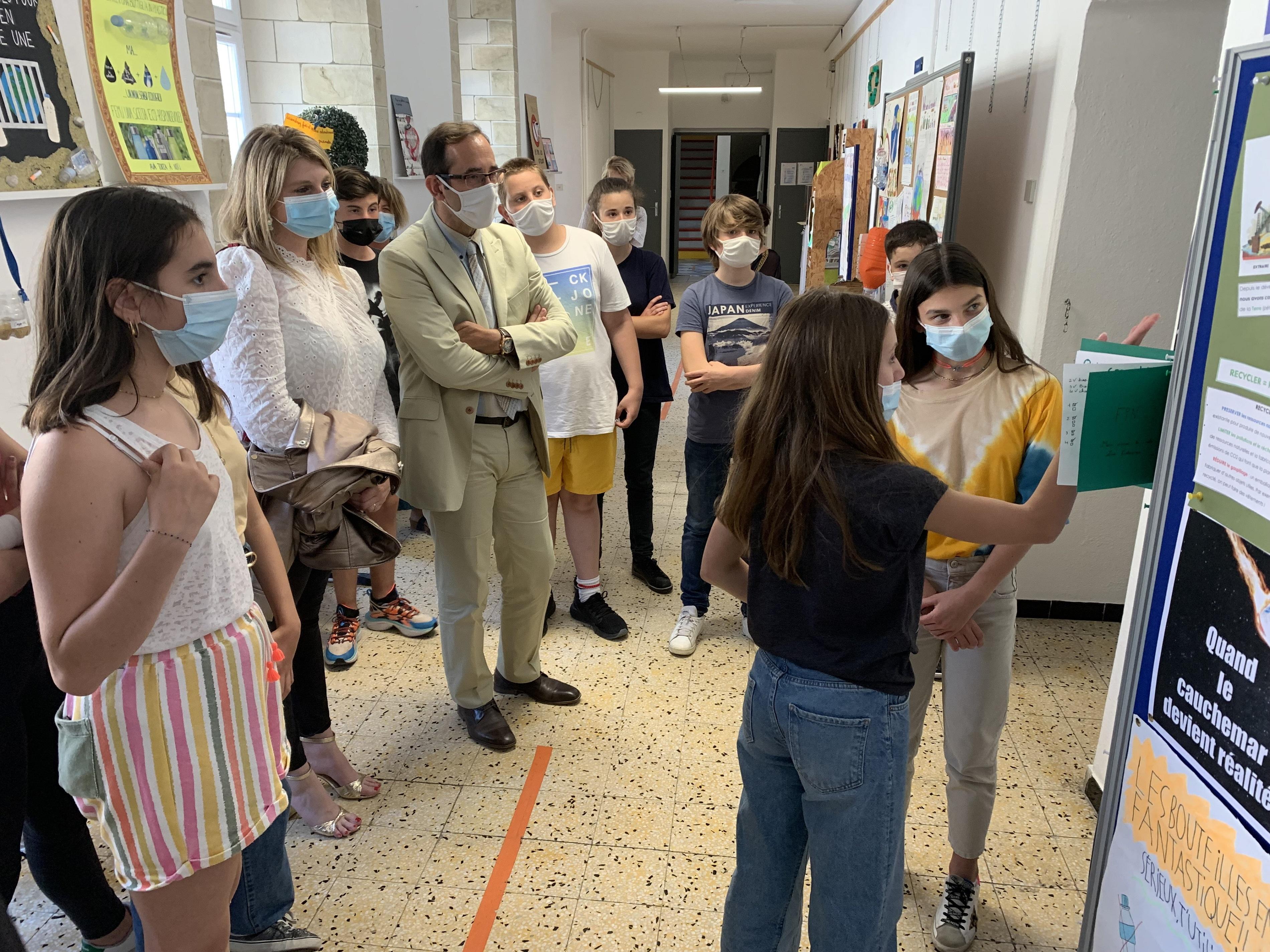 Le collège Simon-Vinciguerra de Bastia «Ecoculleghju : «Optez pour les gourdes pour ne pas en être une »
