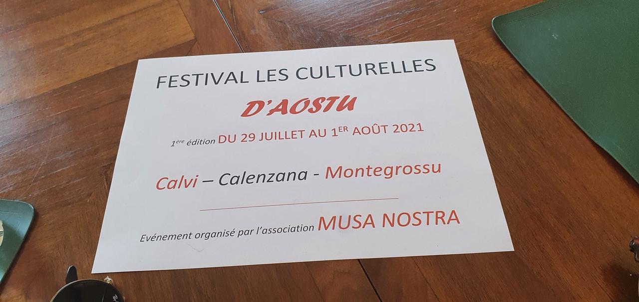 """A Calvi le festival """"Les Culturelles D'Aostu"""" présente sa première édition"""