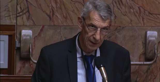 Michel Castellani, député Pe a Corsica de la 1ère circonscription de Haute-Corse, membre du groupe parlementaire Libertés & Territoires et membre du parti Femu a Corsica.
