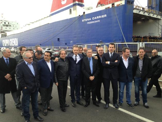 4 janvier 2016 sur le port de Bastia : la Corsica Linea prend la mer (Archives CNI)