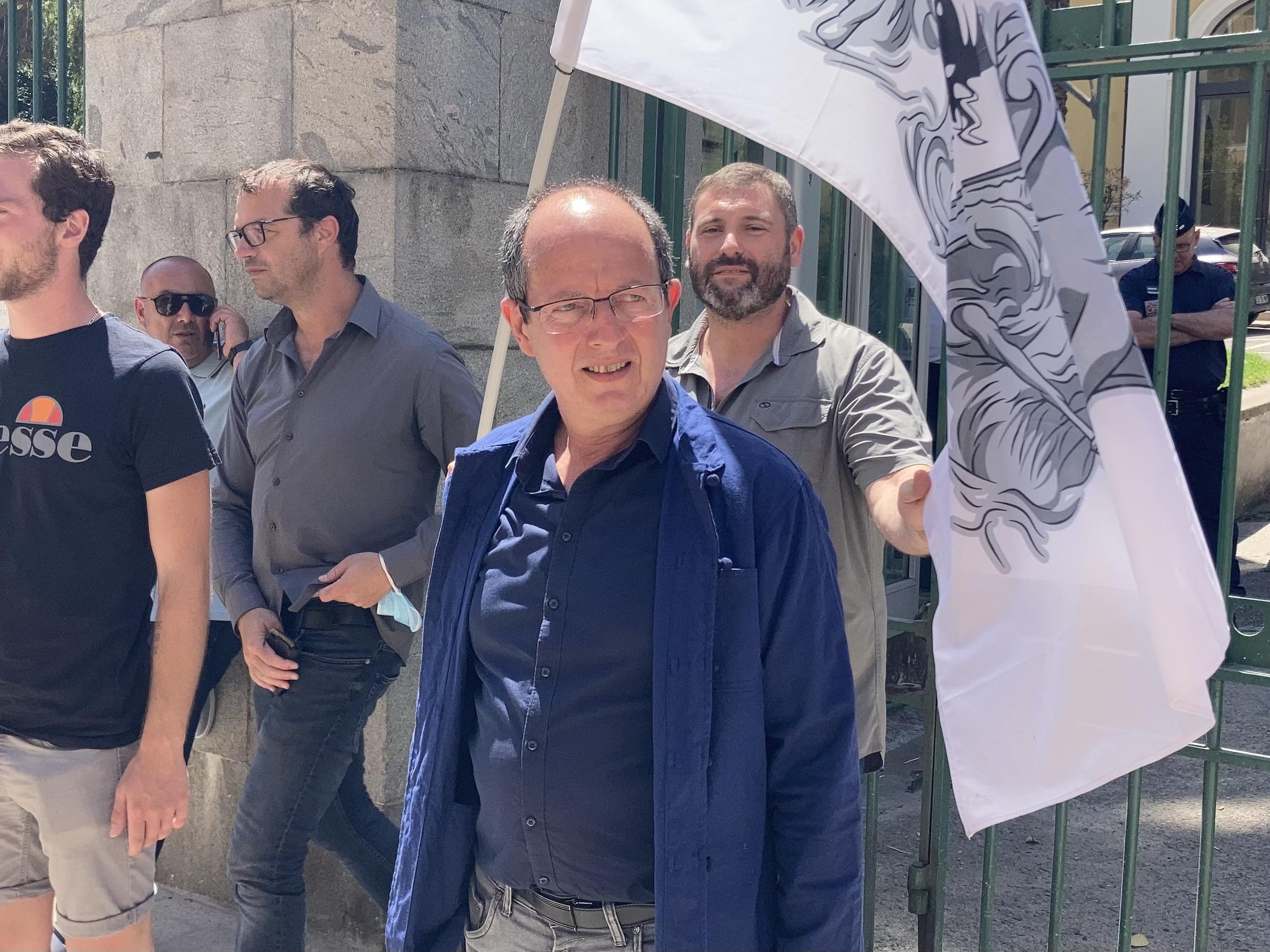 Paul-Félix Benedetti a déposé sa liste ce mardi 22 juin à la préfecture d'Ajaccio. Photo : Julia Sereni