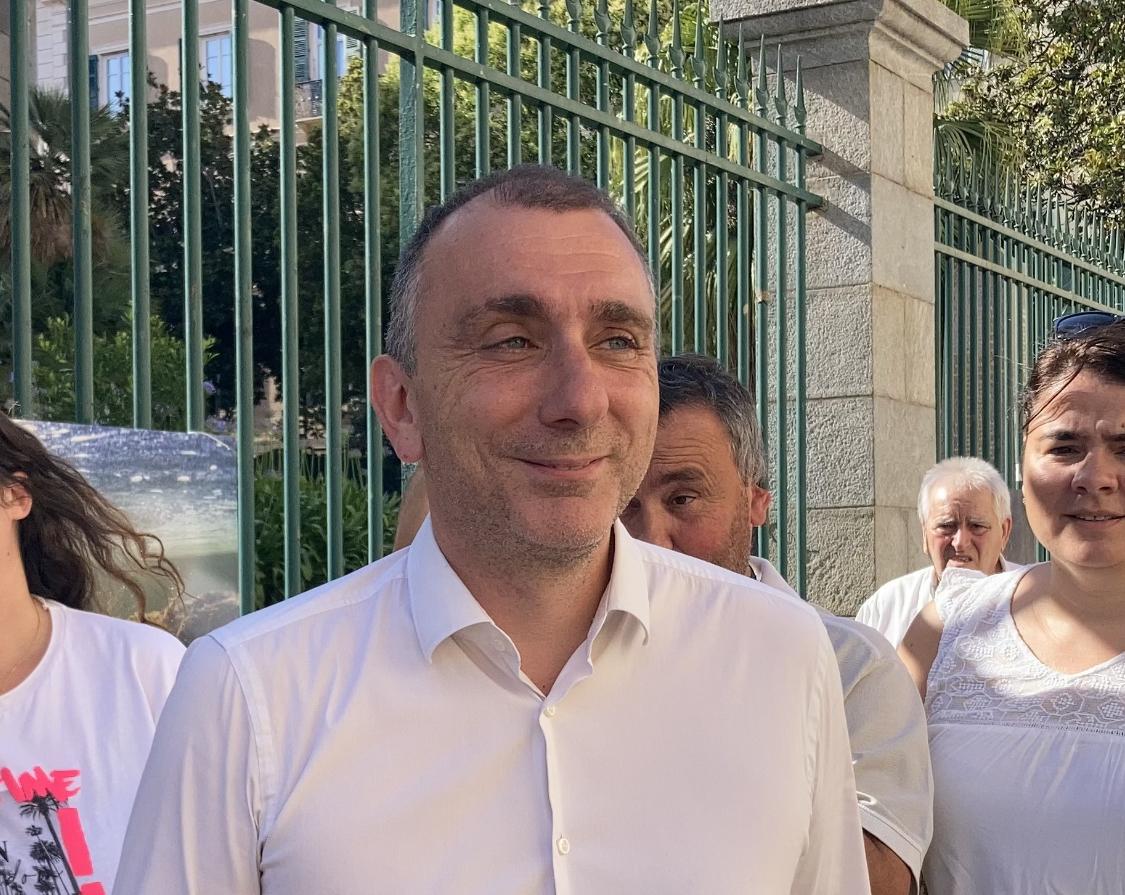 Jean-Christophe Angelini a déposé sa liste d'union avec Corsica Libera. Photo : Julia Sereni
