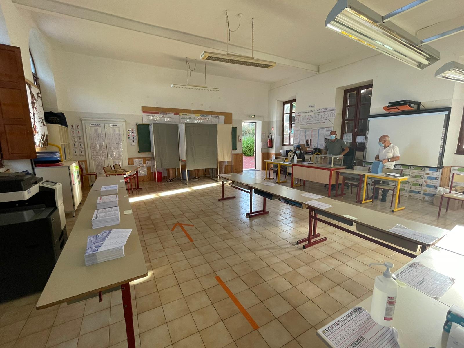 Le bureau de vote de Viggianello