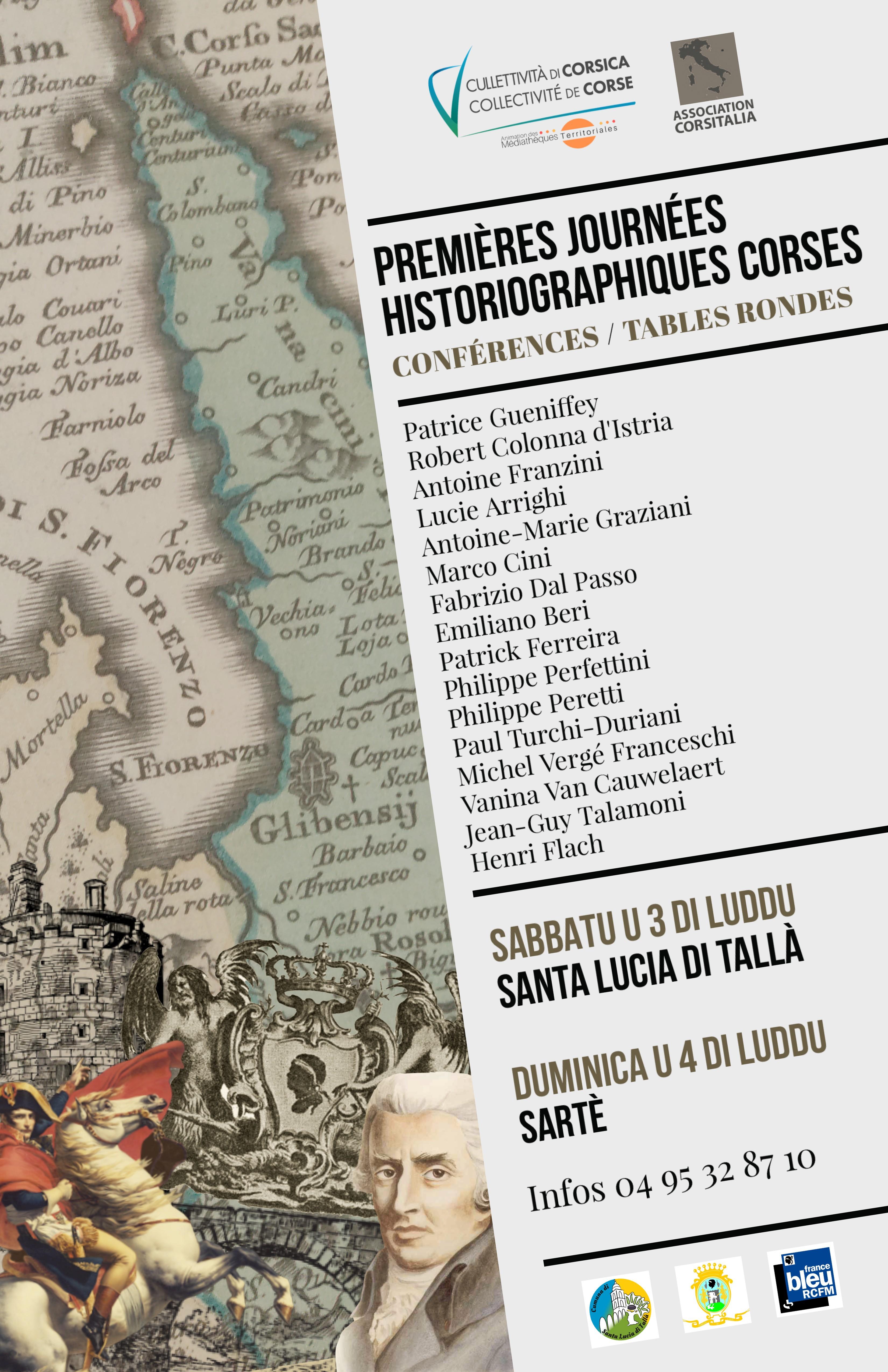 Santa Lucia di Tallà - Sartène : les premières journées historiographiques corses c'est ce weekend