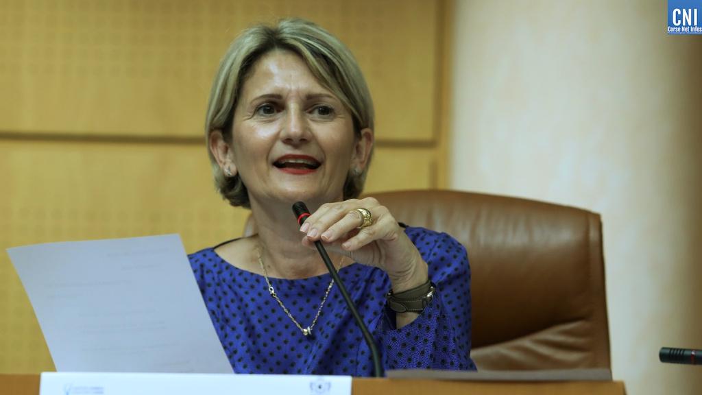 Nanette Maupertuis vient d'être élue présidente de l'Assemblée de Corse. Photo Michel Luccioni.