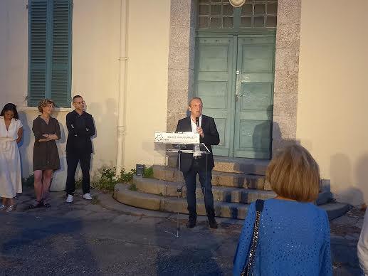 Laurent Marcangeli lors de la soirée de ce dimanche