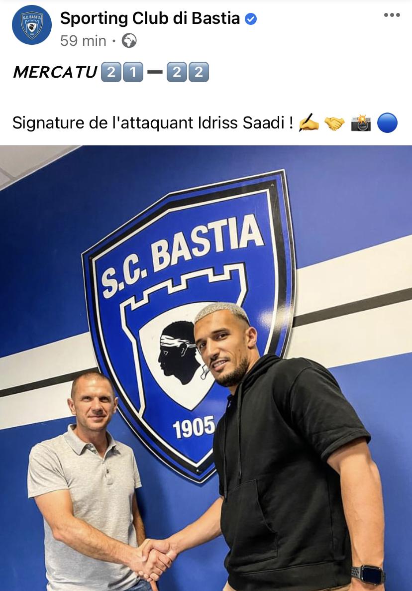 Ligue 2 : un nouvel attaquant pour le SC Bastia