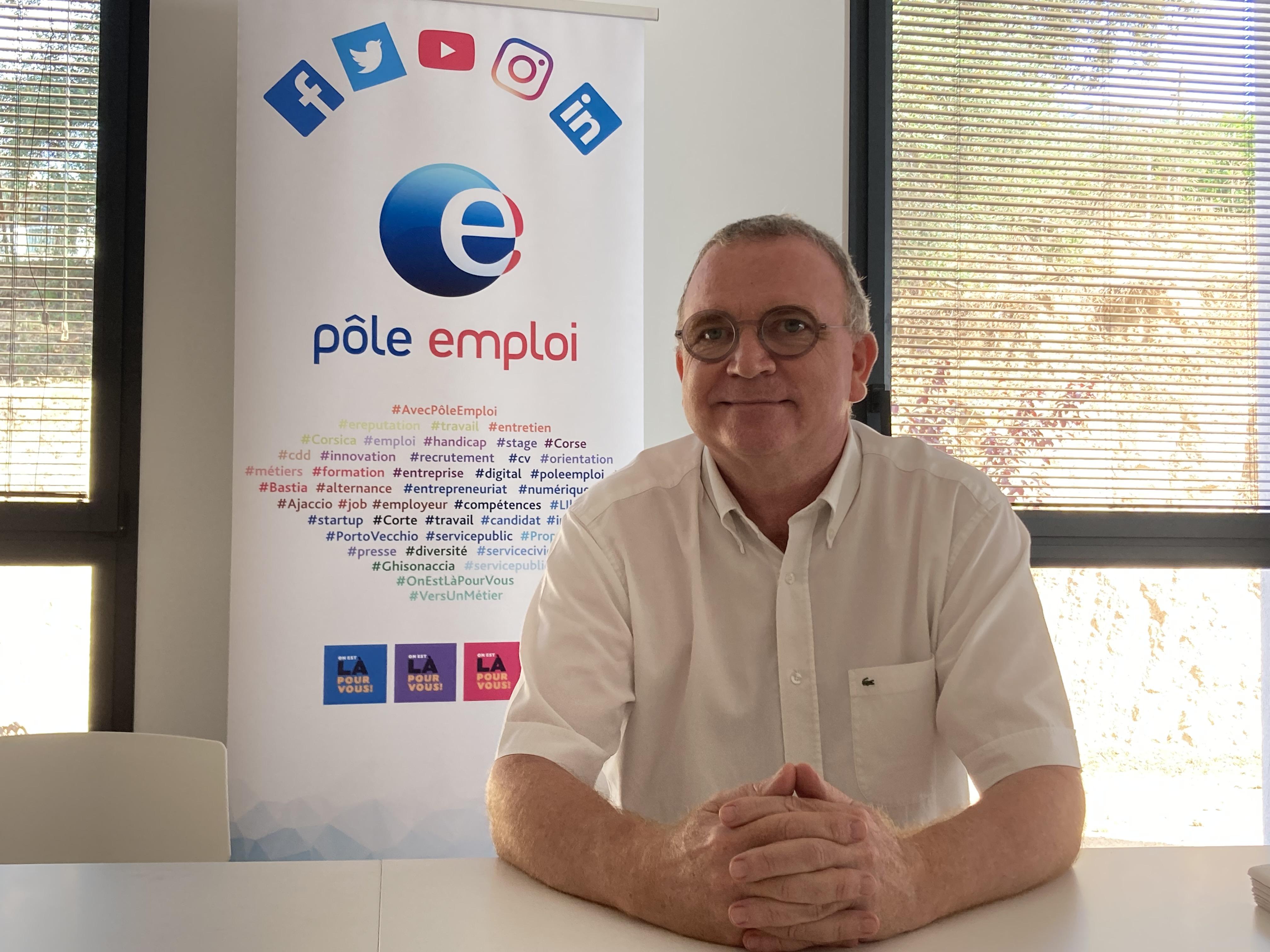 Christian Sanfilippo est le nouveau directeur régional de Pôle Emploi pour la Corse. (Photo Julia Sereni)