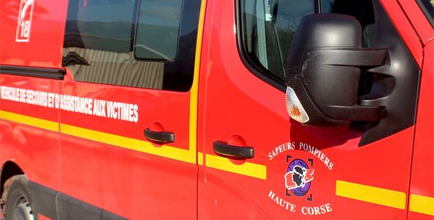 Collision à Ponte-Novu : après le choc un des véhicules fait plusieurs tonneaux, un blessé léger
