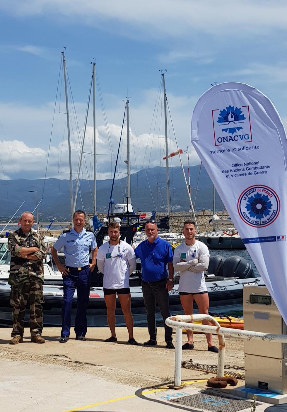 Tour de Corse en kayak bouclé pour le « Bleuet »
