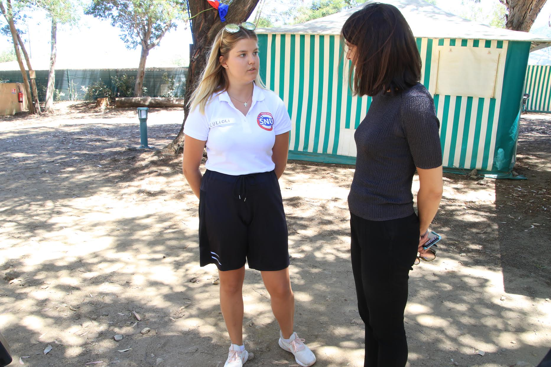 Shailine Culioni avec Julie Benetti, la rectrice de Corse