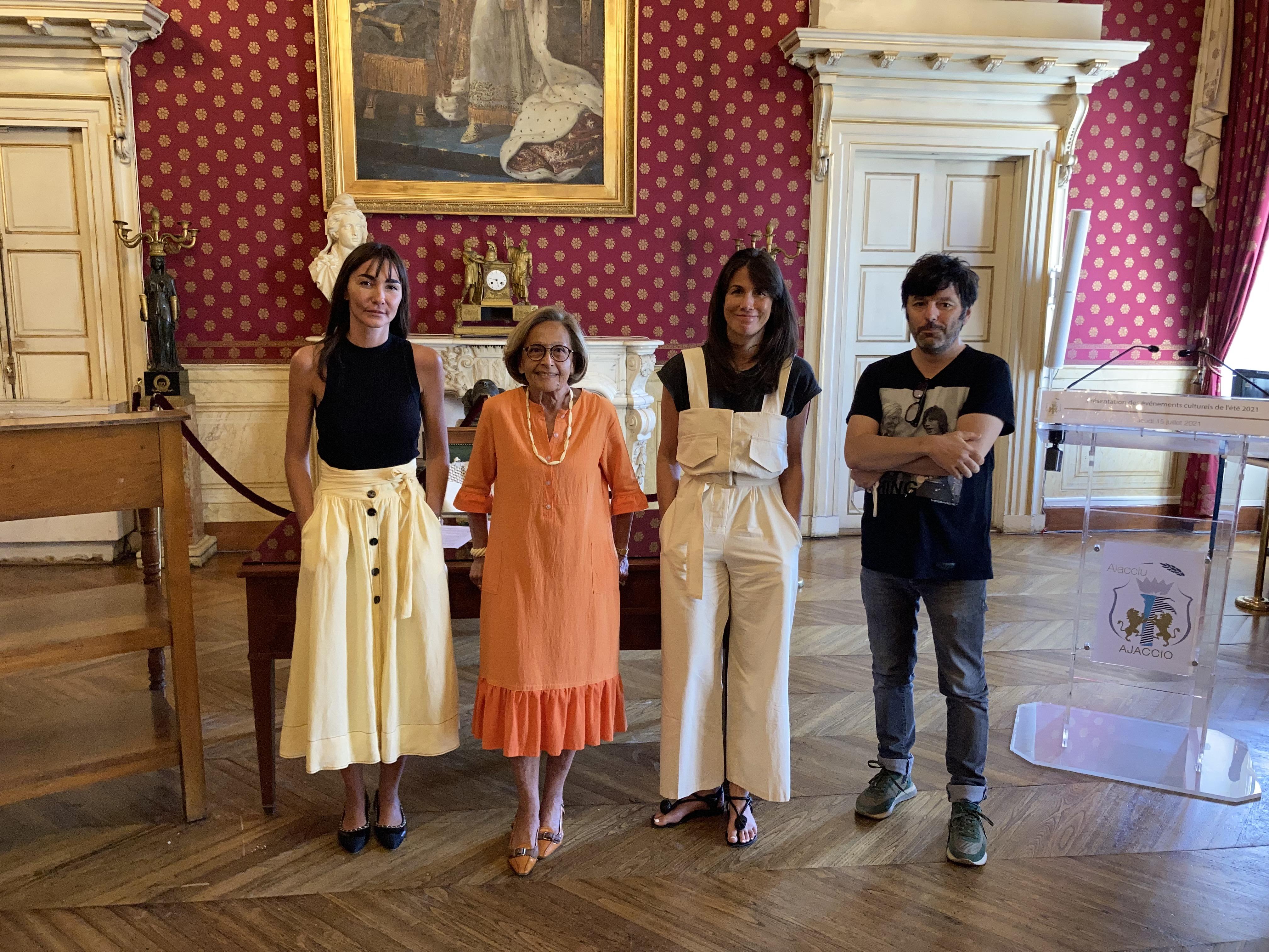 L'équipe de la direction de la culture de la ville d'Ajaccio a préparé un programme pour la saison estivale. Photo : Julia Sereni