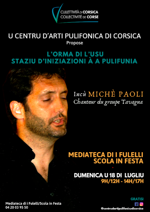 Folelli : un stage d'initiation au chant polyphonique corse gratuit ce 18 Juillet