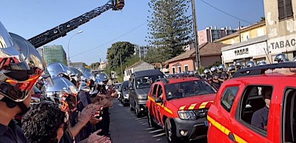 VIDÉO - Bastia : l'émouvant hommage des pompiers à leur collègue Jean-Do