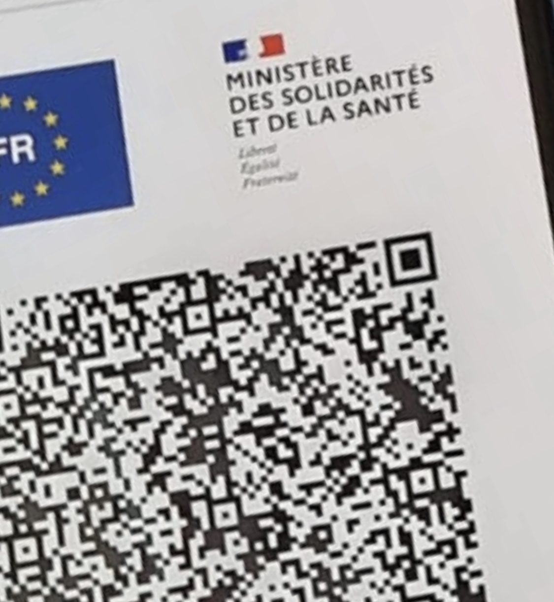 Photo illustration du pass sanitarie