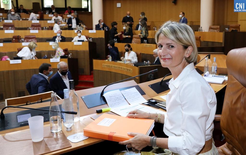 Marie-Antoinette Maupertuis, présidente de l'Assemblée de Corse. Photo Michel Luccioni.