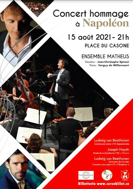 Bicentenaire de la mort de Napoléon à Ajaccio : les billets pour le concert hommage du 15 aout sont en vente