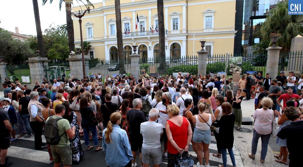 Le rassemblements du 17 juillet dernier à Ajaccio - photo Michel Luccioni