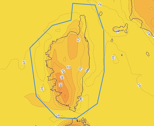 De fortes températures sont attendues jeudi 29 juillet sur le Sud-ouest de l'île.