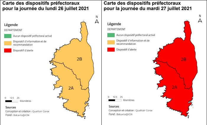 Pollution de l'air en Corse : le dispositif d'alerte a été déclenché