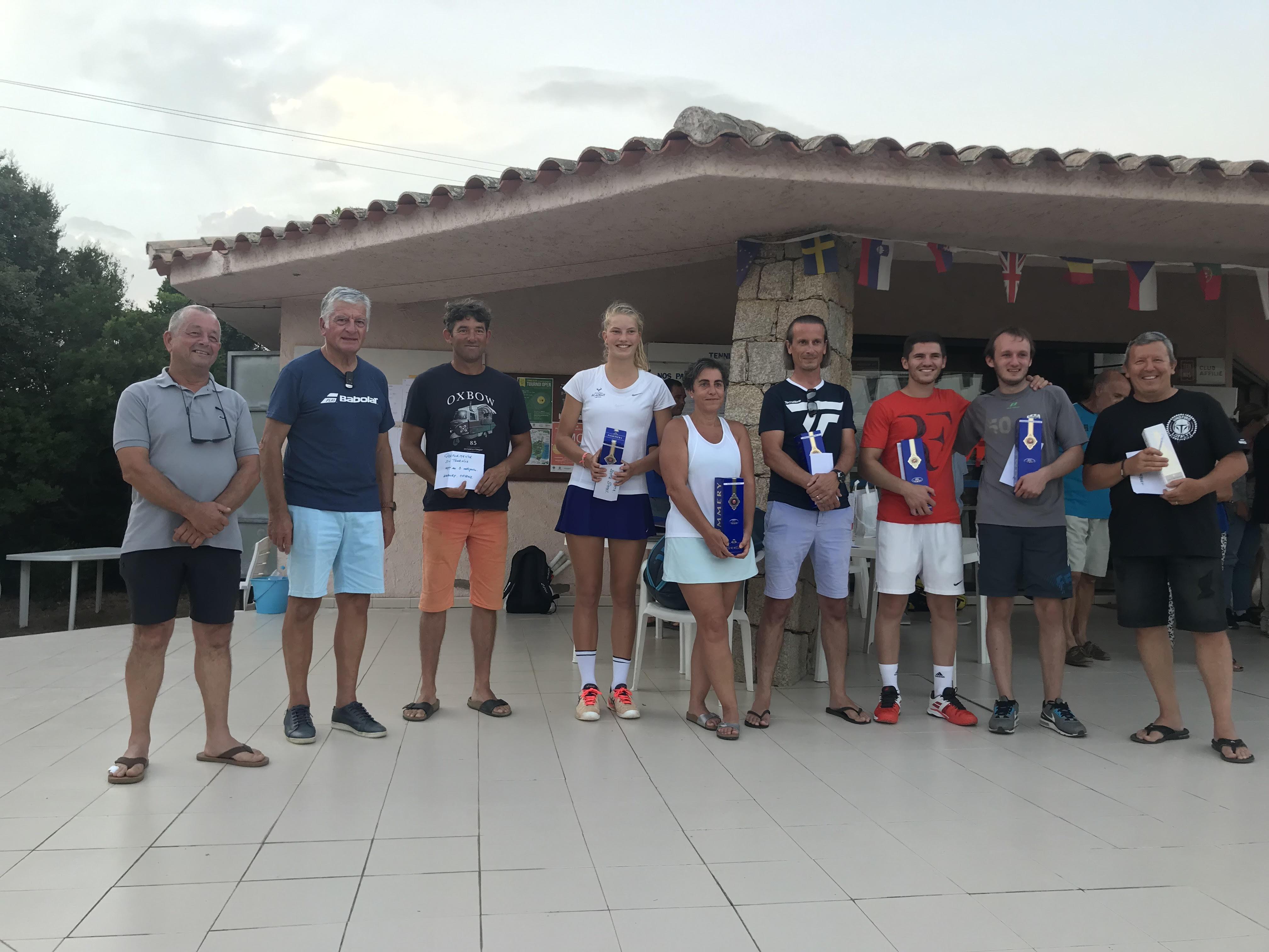 Tennis : Drent et Di Giacomo au palmarès du tournoi du TC Pianottoli-Caldarello