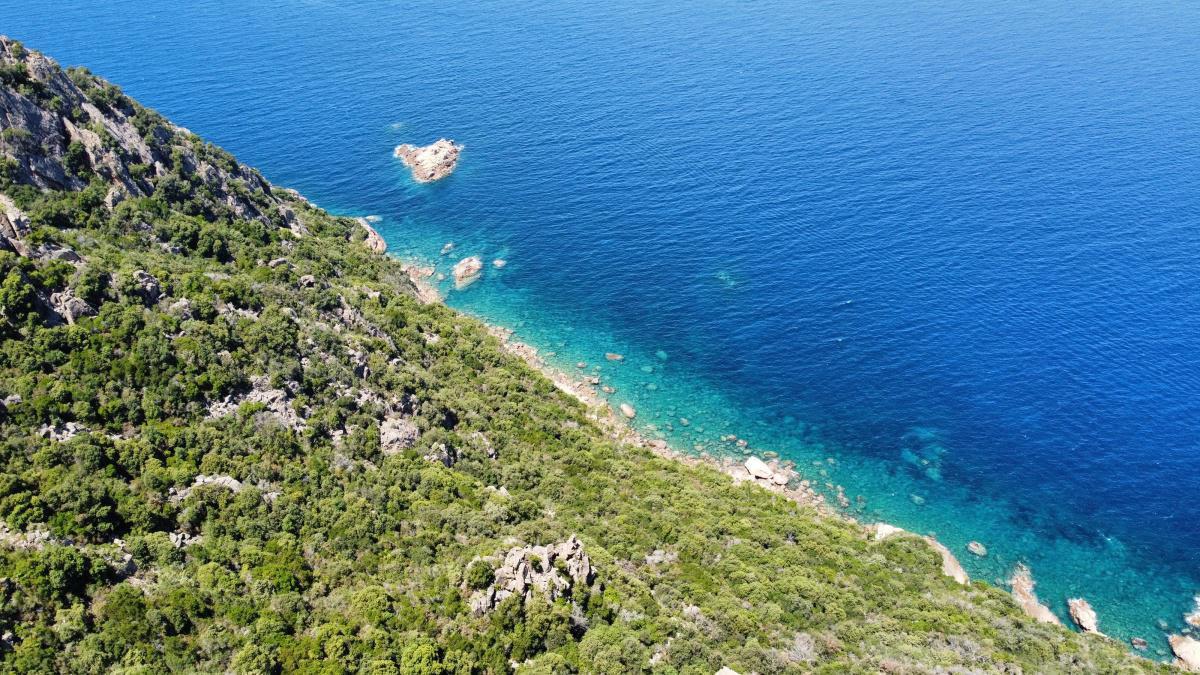 Entre Porto et Piana : un beau dégradé de bleu (omega2a81)