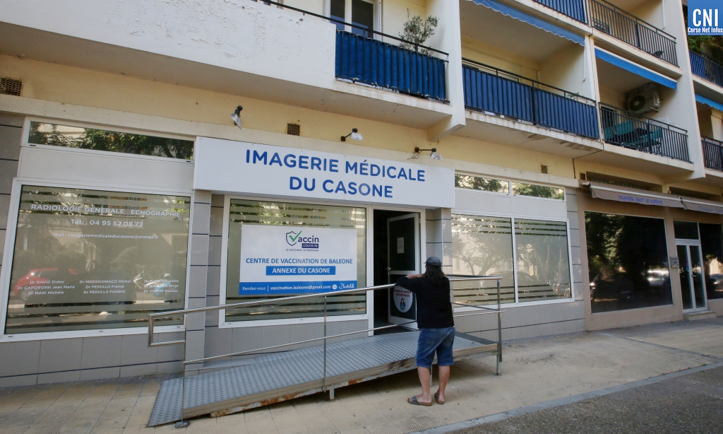 L'imagerie médicale du Casone devient, tous les jours à partir de 16 heures, centre de vaccination. Photo : Michel Luccioni