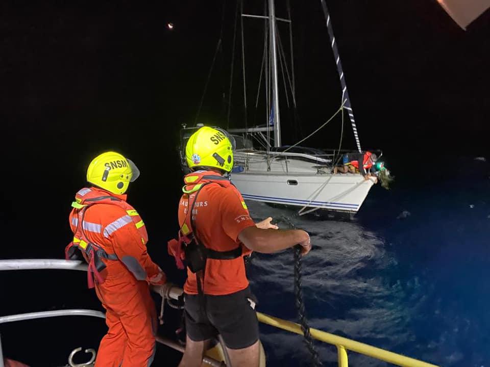 Plusieurs interventions en mer cette nuit en Corse. Source : SNSM Bastia.