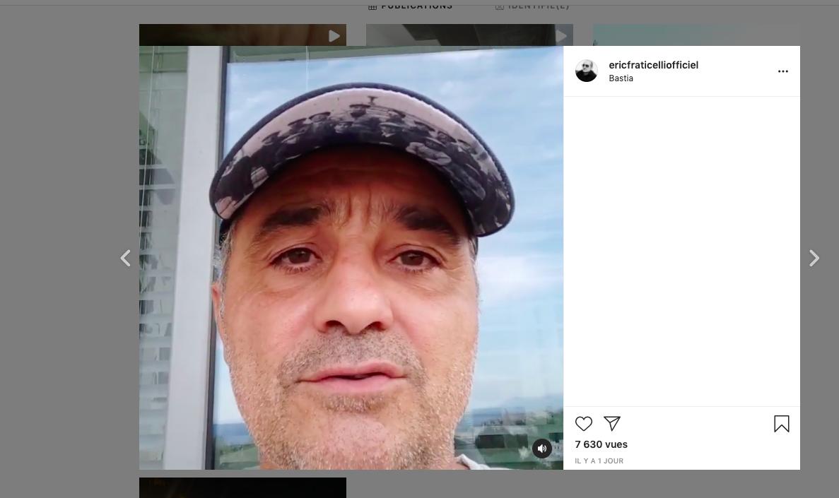 Capture d'écran Instagram @ericfraticelli.