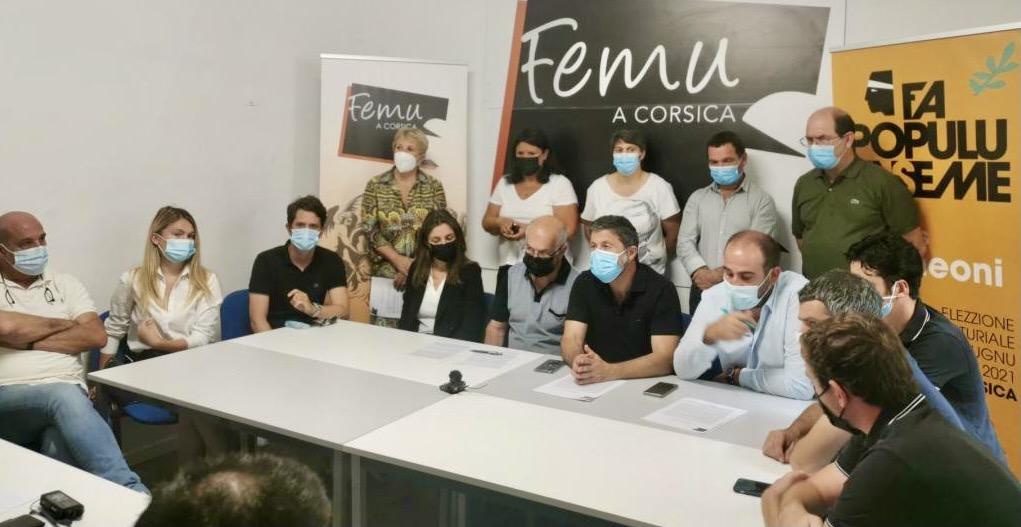 Elus et militants de Femu a Corsica à Bastia.