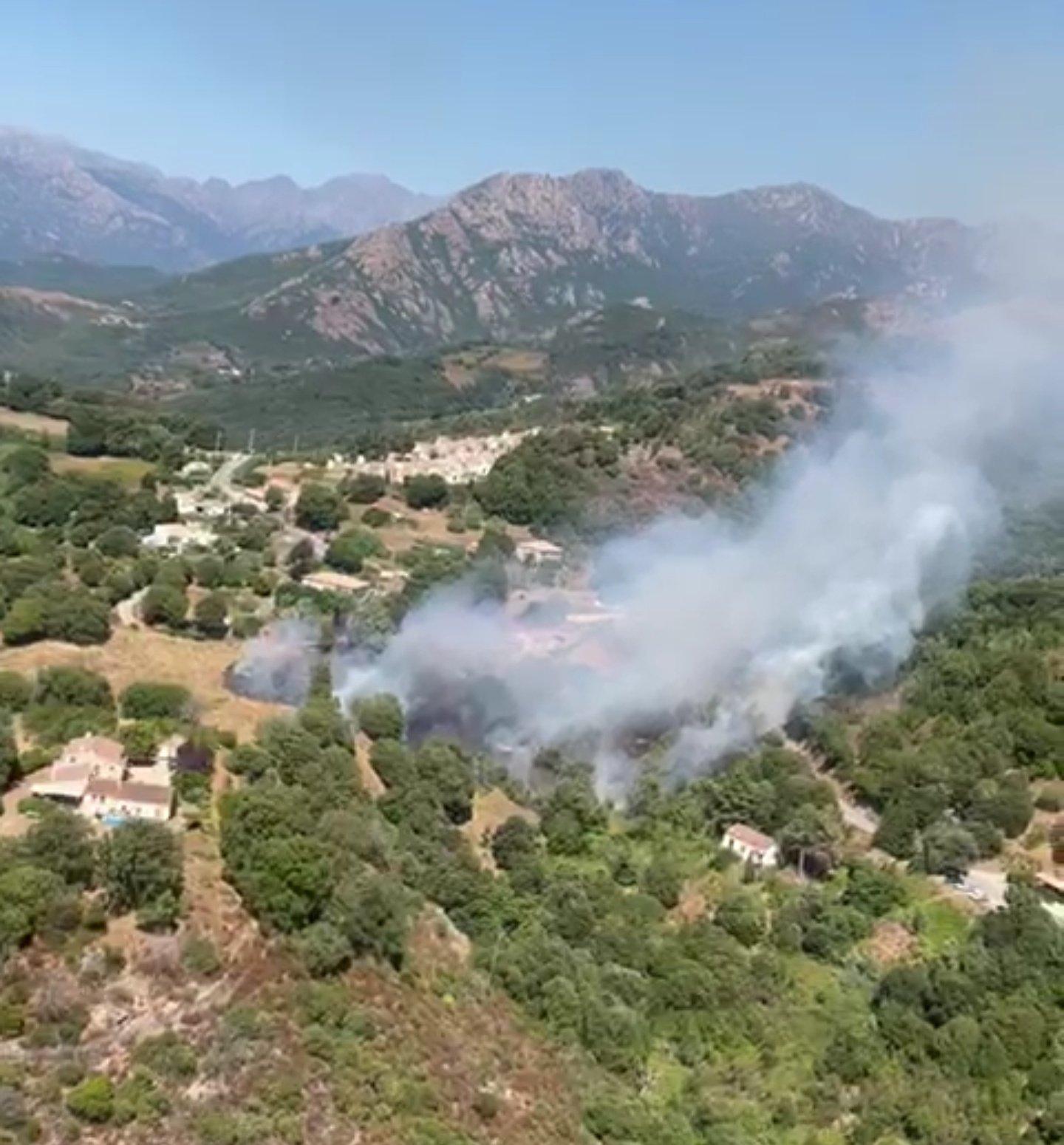 12 hectares détruit lors de l'incendie à Cuttoli-Cortichiato