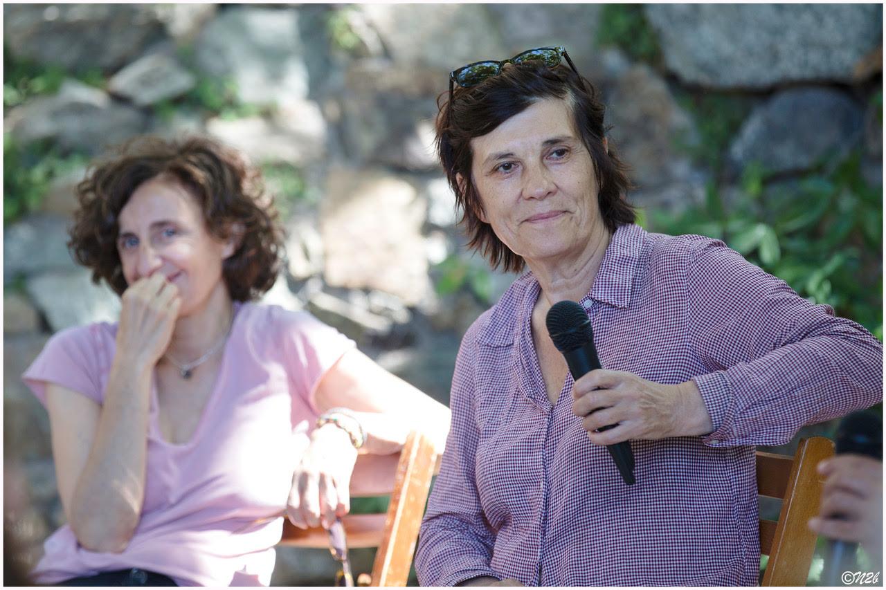 La productrice Elisabeth Perez et la réalisatrice Catherine Corsini, à Lama le 7 août 2021. Photo : © Eric Champelovier / Novellart2b