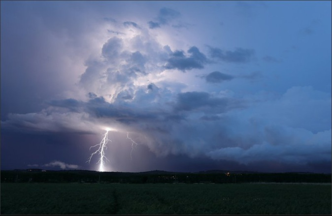 Les épisodes météorologiques intenses devraient s'amplifier au fil des années en Corse. Archives CNI de la tempête Adrian