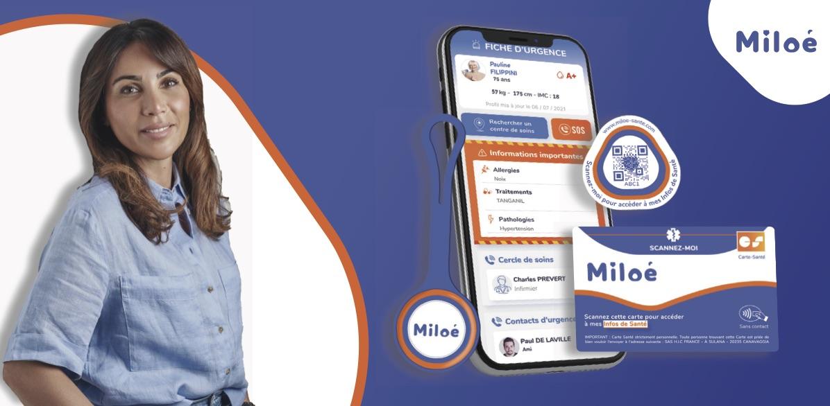 Vanessa Bianconi a créé Miloé, une plateforme qui propose à ses utilisateurs de disposer en toute sécurité de leurs informations médicales en cas d'urgence.