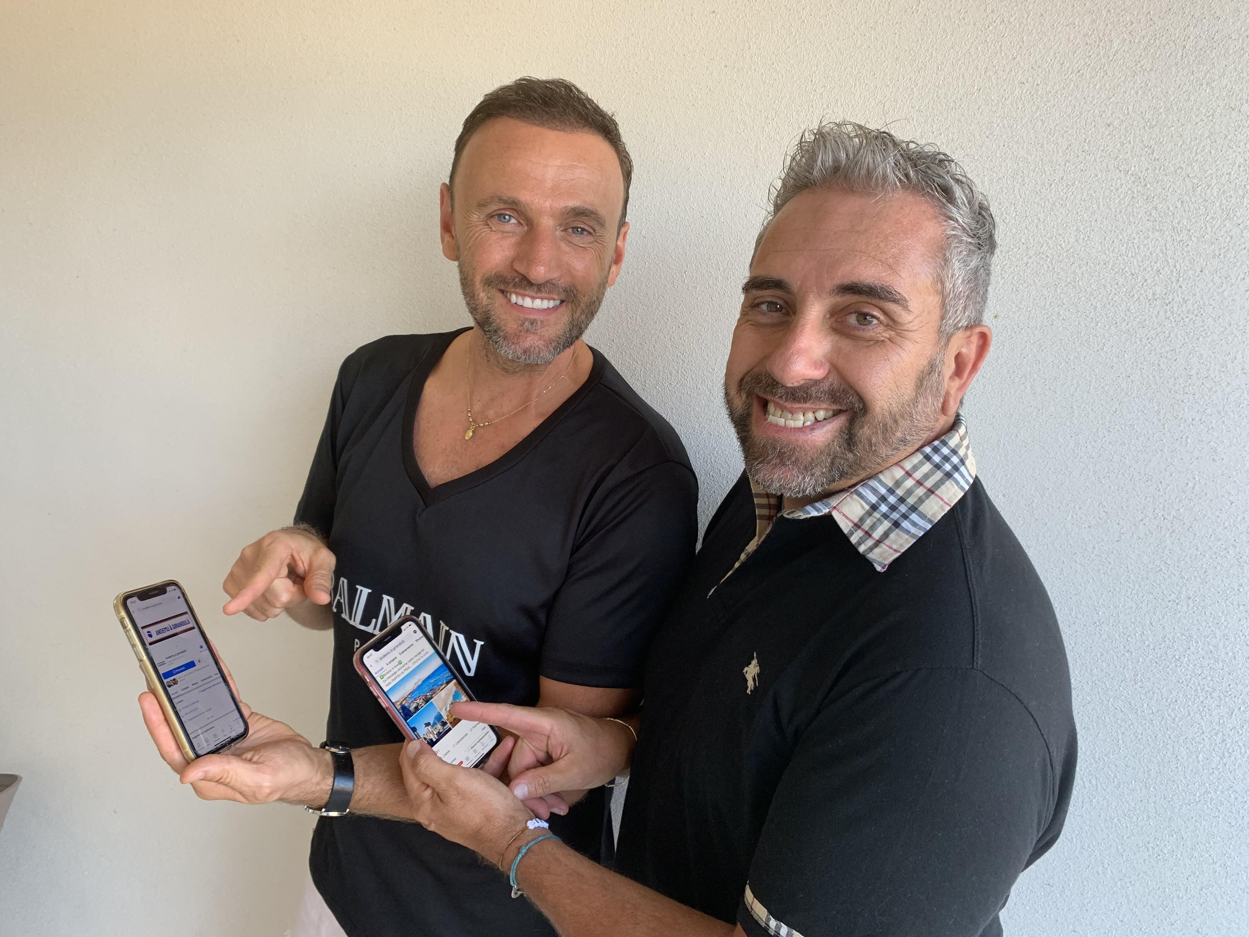 Patrice Pompei et Christophe Oriola : de jolis sourires communicatifs