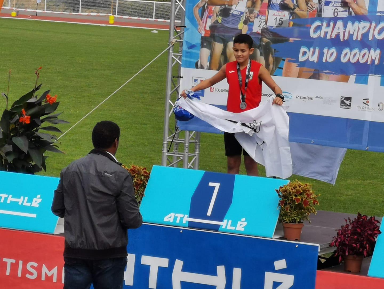 Médaille d'argent pour le benjamin 1ère année Walid En'Neya (photo JM Lamberti)