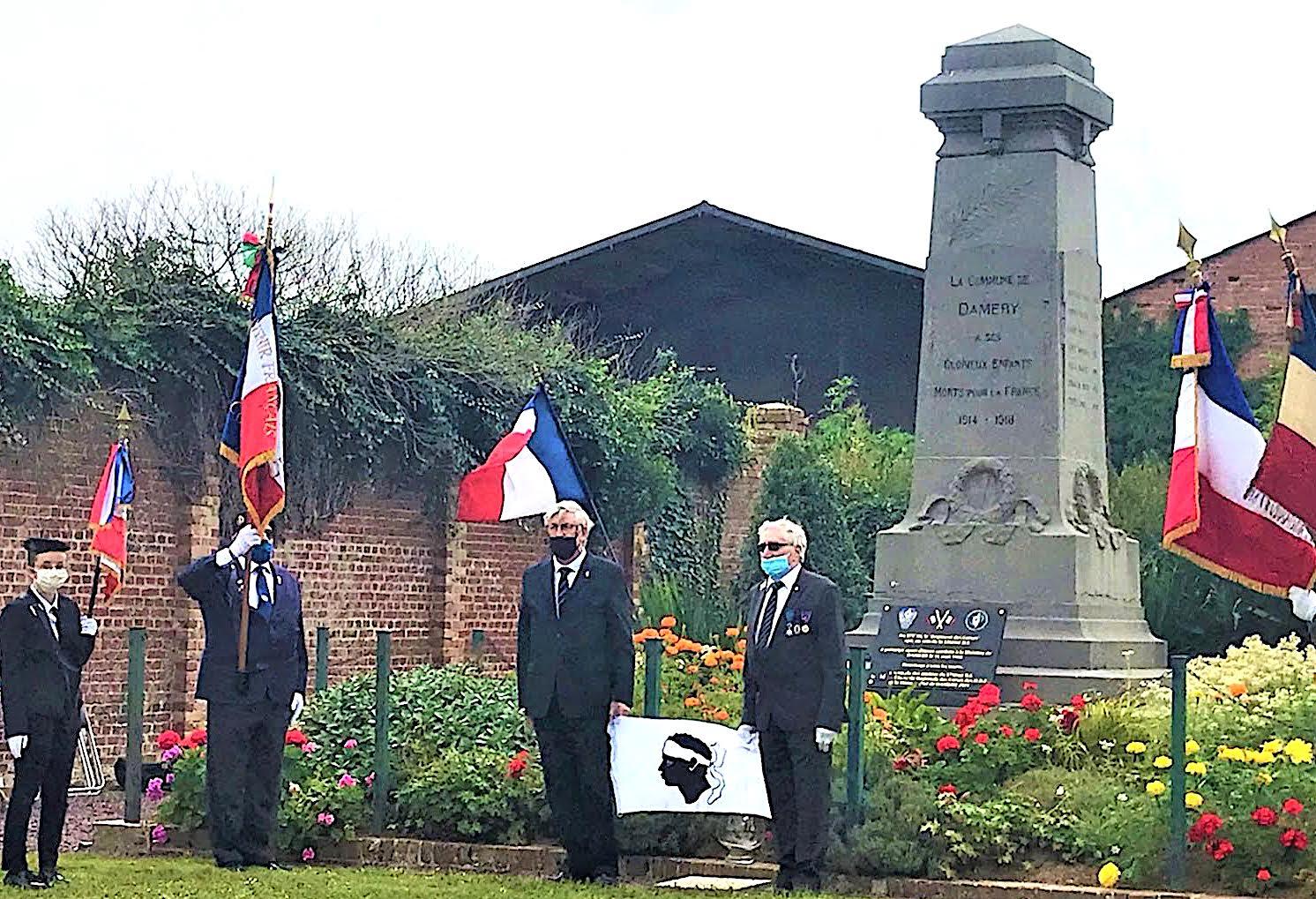 """La mémoire des """"Poilus Corses"""" du 173 ème RI honorée dans la Somme"""