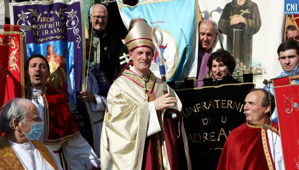 Monseigneur François-Xavier Bustillo évêque du diocèse d'Ajaccio pour la Corse - Photo Michel Luccioni
