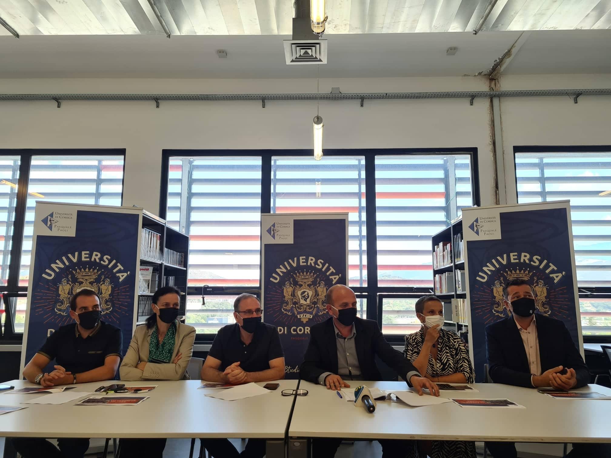 Conférence de presse de rentrée pour la gouvernance de l'université de Corse. Crédits Photo : Pierre-Manuel Pescetti